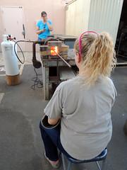 DSCN4216 (teddmcdonah) Tags: hammering bonding arizonastateuniversity 2016 mokumegane airhammer patterning metalsclub diffusing patternedmetals mokumeganeworkshop diffusionbondedmokume liquidphasediffusionbonding