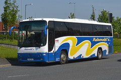 Ashcroft's Travel Volvo B10M HIG1252 - Widnes (dwb transport photos) Tags: volvo coach paragon widnes plaxton hig1252 ashcroftstravel