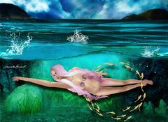 Running to my self (Danielle Hinault) Tags: summer beach underwater pulse sirein