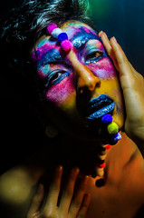 type II style 01 (Jef Harris) Tags: portrait fashion lights hands colorful shadows ottawa homestudio nikond7000