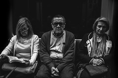 (Levan Kakabadze) Tags: portrait people blackandwhite train faces metro streetphotography 123bw