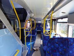 GAL EH52 - YX16OCH - INTERIOR - BV GARAGE - 28TH APR 2016 (Bexleybus) Tags: bus london ahead interior garage go 400 belvedere dennis mmc bv enviro adl goahead eh52 yx16och