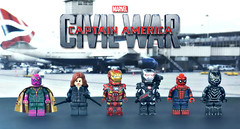 LEGO Captain America : Civil War - Team Iron Man (MGF Customs/Reviews) Tags: chris winter man black scarlett holland robert tom america scarlet giant soldier paul spider evans team war iron elizabeth lego witch ant machine jr vision civil cap captain figure falcon mackie anthony custom widow panther barnes bucky olsen avengers johansson downey minifigure rudd