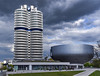 BMW (sarah_presh) Tags: light building sunshine museum architecture clouds germany munich bmw offices nikond750