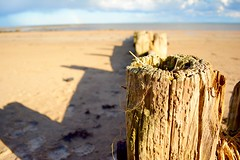 Wave Breaker (J @BRX) Tags: uk blue england sky beach water sunshine rain rainbow sand nikon northumberland alnmouth d5200 april2016