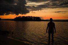 Sunset Gazing (Adam Diamond Photography) Tags: sunset shadow orange lake nature water clouds canon dark landscape photography islands waves photoshoot canon5d