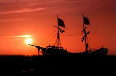 Sunny Sailing Explored 27/5/2016 (David Chennell - DavidC.Photography) Tags: summer orange sun abstract boat pirates gracedarling wirral pirateship merseyside hoylake