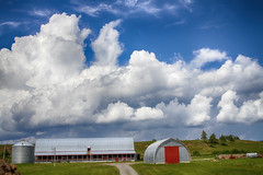Monsters in the Sky (vamp8888) Tags: farm gaspesie qubec canada canon landscape summer 7d clouds monsterclouds photo photography barn august