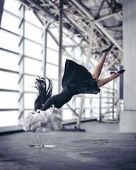 Cry (wanda domingo) Tags: portrait woman cloud black girl rain lady clouds photoshop canon puddle sadness 50mm wanda sad dress cloudy surrealism fineart crying surreal levitation manipulation cry conceptual raining cries raincloud levitating wandadomingo