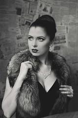 Audrey Look (marekkolak) Tags: portrait beauty look fashion bar magazine dress photoshoot czech makeup style retro jewellery brno rings audrey hepburn visage photomodel hairstyling