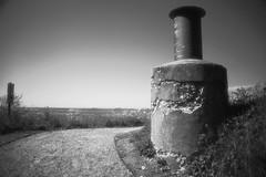 IR chimney (BigWhitePelican) Tags: road chimney sky finland helsinki may infrared 2016 vallisaari canoneos7d adobelightroom6