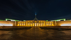 Starry Morning at Parliament House (Robert Willmett) Tags: house capital australia parliament canberra act