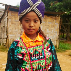 Hmong Girl in Laos (Jean Girdler) Tags: travel portrait asia laos hmong