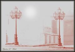Due lampioni in un giorno di nebbia - Giugno-2016 (agostinodascoli) Tags: art photoshop nikon digitalart digitalpainting nikkor lampioni sicilia cianciana agostinodascoli