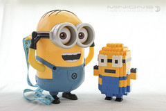 Minions (dvdliu) Tags: lego moc sculpture minions basic brick statue classic