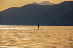 Canoeing at sunset (Vagelis Pikoulas) Tags: sunset sea sun canon landscape spring europe view may canoe greece porto tamron vc 6d 70200mm 2016 germeno