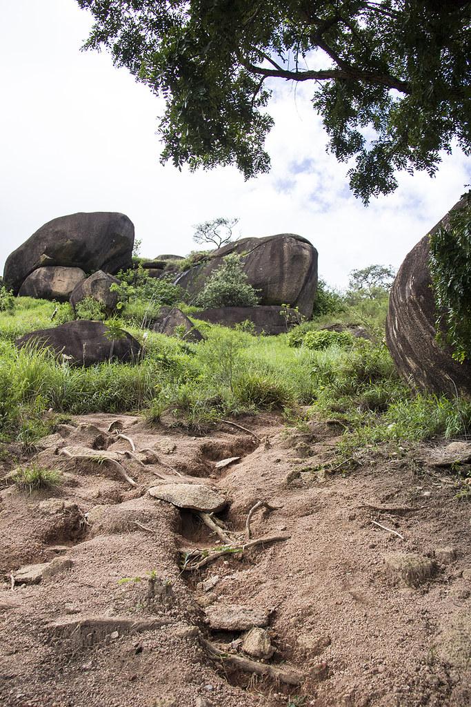Trilha da Pedra Grande - trilha e erosões no caminho