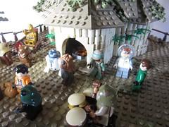 Ewokdorf - Feier 04 (KW_Vauban) Tags: starwars lego endor ewokvillage episodevi thereturnofthejedi