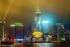 Victoria Harbor Light Show (eking86) Tags: china light beautiful hongkong boat asia explore lightshow