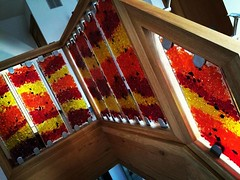 Fused glass balustrade (RDW Glass) Tags: art glass modern scotland stair contemporary interior stainedglass bullseye inverness balustrade fusedglass rdwglass