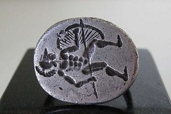 Ancient greek silver ring depicting Ajax the Great, 3rd. to 2nd. century BC (mike catalonian) Tags: silver jewelry ring ancientgreece 2ndcenturybc