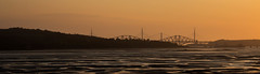 Cramond Island (Matacz) Tags: road bridge sunset canon island scotland edinburgh north bridges forth unit cramond 70d