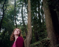 Kelly in the Woods (Colton Davie) Tags: california trees portrait 120 film june forest woods kodak roadtrip pch kelly russianrivervalley colornegative iso160 portra160 riverfrontregionalpark 6x6cm 2013 rolleicordiii