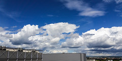 2016-06-18- _ -11.49 touching clouds ○ running from WEST TO EAST (eagle1effi) Tags: sky industry clouds heaven himmel bluesky industrie s5 str herma filderstadt bonlanden regionstuttgart airportstuttgart