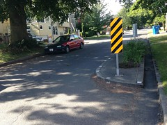 Traffic calming choker on 18th Avenue by Lake Washington Middle School. Simulates parked vehicle for street narrowing (Seattle Department of Transportation) Tags: seattle speed traffic calming safety transportation reduction sdot donghochang