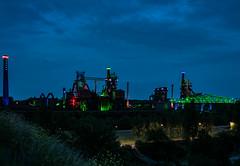 Industriebrache Landschaftspark Duisburg (drndwarp) Tags: landscape nacht landschaftspark duisburg landschaft industrie brach langzeitbelichtung beleuchtet photoadventure lapadu