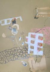 Ich will dem Schicksal in den Rachen greifen (Ellen Ribbe) Tags: brown art collage paper drawing mixedmedia kunst woody crayon braun papier bleistift neocolor zeichnung fineliner graphit