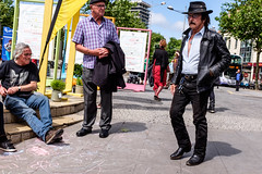 Bristol; June 2016 (Daniel Durrans) Tags: street urban man bristol cowboy streetphotography medallion cowboyhat cowboyboots