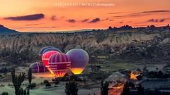 Cappadocia, Goeme (Geme). Hotairballons (www.GoAndRide.co) Tags: goreme goeme sun travel travelers turquia turkey sunrise hotairballons kapadokia cappadocia