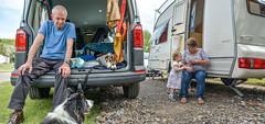 Visitors at Our Camp! (Nikki & Tom) Tags: uk grandma liz dogs girl tom toddler child sophie jazz harris tynewear