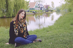 Zaanse Schans (Alberto Grego Photography ) Tags: girls river donna fiume olanda zaanseschans zaanse schans ragazza holand oland mulini