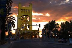 Tower Bridge Sunset (bb8ller) Tags: old bridge sunset cloud sun tower set clouds volcano lava cloudy sac kings sacramento volcanic
