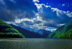 point of view(landscape) (bcalin26) Tags: blue lake mountains nature clouds landscape nikon naturalbeauty