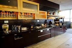 Bar counter (A. Wee) Tags: toronto canada bar airport lounge mapleleaf yyz aircanada