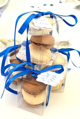 Macaron Favours (Kennet House Cakes) Tags: blue wedding silver sweets boxed macaron favour