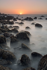 Calm seas (gmacfly) Tags: ocean sunset seascape nature fun rocks long exposure creative peaceful calm filter nd filters pacifica singhray littlestopper