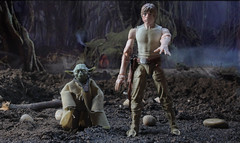 You must feel the Force around you. (hachiroku24) Tags: forest toy star back force yoda mud action luke v empire figure blacks series wars strikes episode hasbro skywalker dagobah