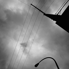 i've taken this picture thousands of times so i'm obsessed with wires and fluffy clouds sue me :-) (roland) Tags: cloud vancouver bicycling wire cloudy fluffy pole wires commuting notsunny fluffyclouds hydropole hydrowire notrainy bicyclingfromwork bike2workpix