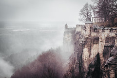 Knigstein Fortress | Saxony, Germany 2014 (philippdase) Tags: winter landscape nikon moody saxony saxonswitzerland knigsteinfortress nikond7000 philippdase