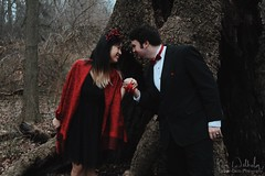 together, we can do anything (Jolie-Laide Photography) Tags: red love fashion forest scarf couple chinese bowtie fancy magical tux myth blackdress flowercrown jolielaide jolielaidephotography