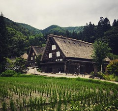 upload (Christine Cho) Tags: house japan square japanese triangle squareformat fields housing vernacular gifu crema shirakawa iphoneography shirakawamura instagramapp