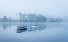 Moments (raymond_carruthers) Tags: mist trees lochrusky fog scotland boats trossachs lochs