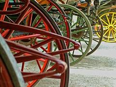 Carriages. (Aaron T Jones) Tags: horse colour salzburg tourism austria sterreich fuji tour carriage finepix s7000 oesterreich