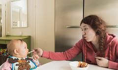 Sisters (Jori Samonen) Tags: food woman baby girl sisters finland feeding young isla sipoo iida