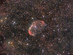 NGC 6888 - The Crescent Nebula (AllAboutRefractors) Tags: refractor canon6d tec180 nebulae astrophotography astronomy astrometrydotnet:id=nova1650634 astrometrydotnet:status=solved