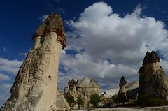 Cappadocia (Reshmi & Saikat) Tags: blue turkey cappadocia anatolia goreme rockformation mushroomrock fairychimneys nikkor1855mm nikond7000